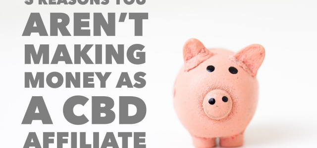 5 reasons you aren't making money as a CBD affiliate